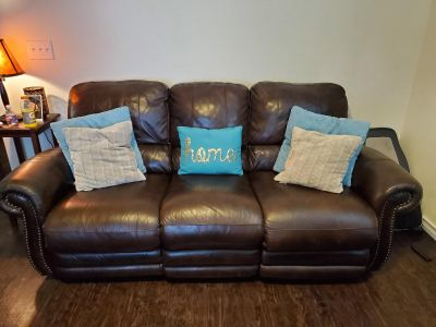 Leather Electric Recline Couch
