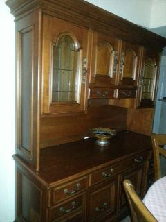 $2,500, 2 piece Credenza with Hutch