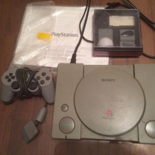 $45, Sony PlayStation PS1 SCPH-7501 Console  DualShock 2 memory cards and controller  manual   GAMES