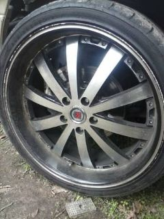 20 Red Sport rims and tires