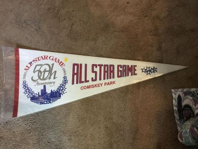 Vintage 1983 all star game comiskey Park large pennant
