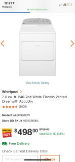 Washer & Dryer will sell Dryer separately!