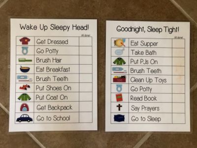 Boys Day/Night Routine Charts Free w/purchase!