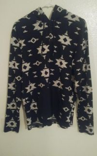 On the byas men large hoodie with black and white design