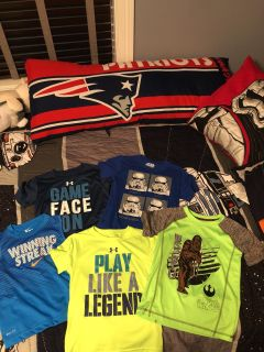 5T Nike, under armor and Star Wars boys t-shirts