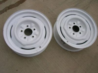 Purchase GM 1954-1962 CORVETTE WHEELS RIM 57 58 59 60 61 62.. pair (2) ..283 327 2x4 FI motorcycle in Claremore, Oklahoma, United States, for US $139.00