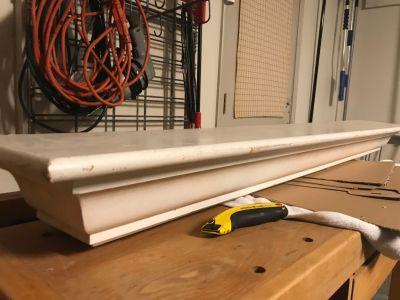 Shelf or fireplace mantle