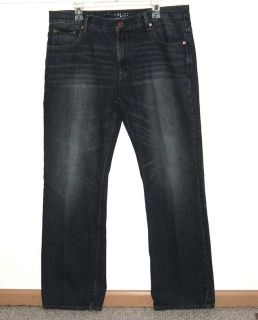 Aeropostale Relaxed Straight Denim Blue Jeans Mens Tag 36x34 Measures 36 x 32