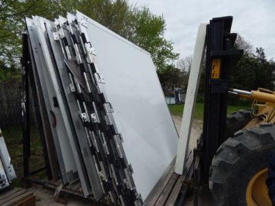 "Buy Trailer Door, 93""X96"", Rear Trailer Door Ramp, New, White, Half Screen Area, #50 motorcycle in Adrian, Michigan, United States, for US $400.00"