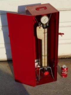 ROBINAIR Dial-A-Charge CYLINDER w/Original Metal Cabinet
