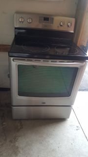 Maytag stainless stove