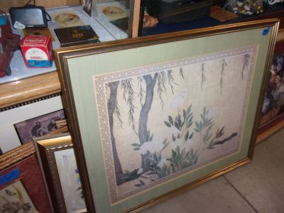 Framed and Matted Floral Print Picture