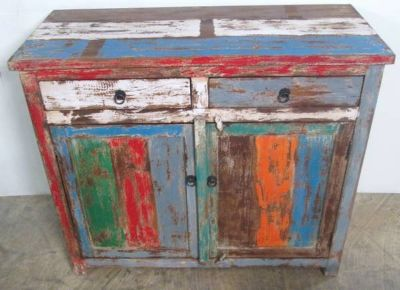 Rustic, Recycled Wood BUFFET  SIDEBOARD - ON SALE (Ganesha Home