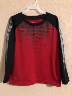 NIKE DRI-FIT Red and Black Sports Shirt. Size 6