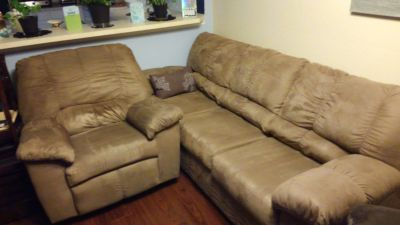 Couch and two recliners