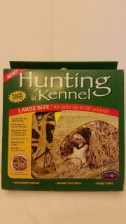 Hunting Kennel Large Size Dog Pets Up to 90 lbs. Camo
