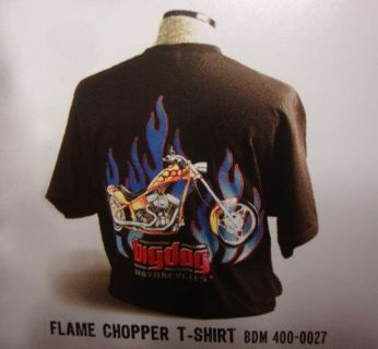 Sell BIG DOG MOTORCYCLES FLAME CHOPPER SHIRT LG W/ FRONT & BACK DESIGN SHORT SLEEVE motorcycle in Lyons, Kansas, United States, for US $19.99
