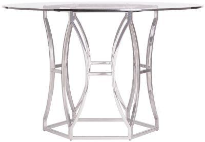 Bernhardt Interiors Argent Chrome Dining Table