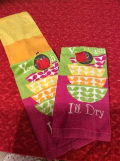 NWT kitchen towels You Wash I ll Dry theme price for. Oth