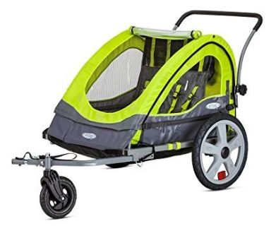 Instep Quick-N-EZ Double Seat Tow Behind Bike Trailers, Converts to Stroller/Jogger