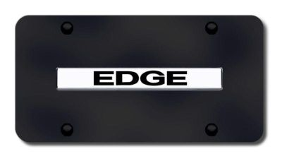 Find Ford Edge Name Chrome on Black License Plate Made in USA Genuine motorcycle in San Tan Valley, Arizona, US, for US $33.38