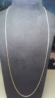 "Thin 14kt gold 16"" rope chain"
