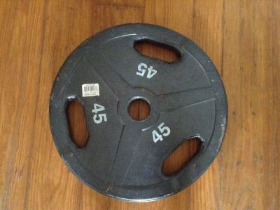 Olympic weight, 45 pounds