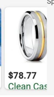 tungsten ring with gold band