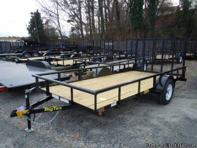2018 Big Tex Single Axle Utility Trailer 6'6x14' (91809)