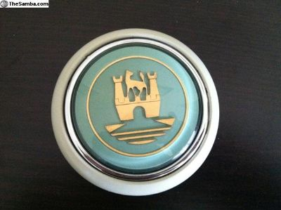 Turquoise (turkis) deluxe horn button 56-67 bus