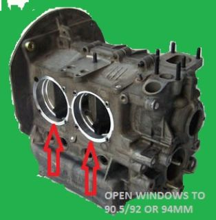 vw 2332 engine case bug ghia trike sandrail baja