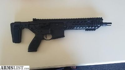"""For Sale: 9"""" 300BLK MCX Pistol with Sig Romeo 4 red dot sight and Sig Bravo 4 battle sight"""