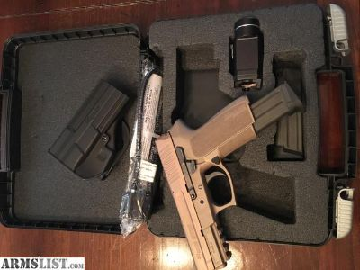 For Trade: Full FDE Sig Sauer SP2022 9mm w/ Streamlight TRL