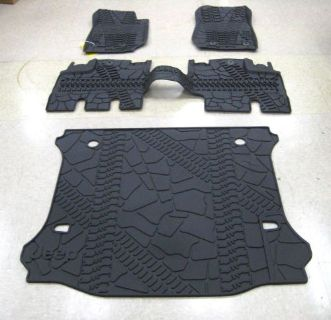 Sell 2007-2013 JEEP WRANGLER UNLIMITED MOPAR SLUSH MATS AND CARGO TRAY motorcycle in Saint Marys, Ohio, United States, for US $159.95
