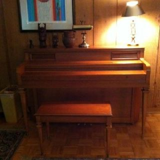 $10 OBO TRANSACTION PENDING...EVERETT 1964 console piano and bench