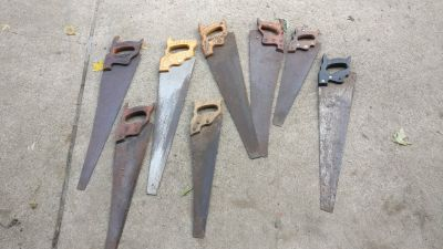 8 saws classic wooden handles
