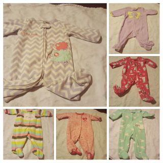 3 months pajama clothes lot. 6 pajama lot for sale.