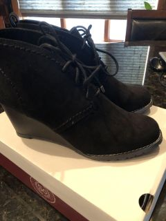 So wedge booties. Size 8.5