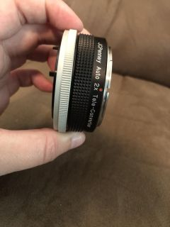 JCPenney AUTO 2x tele converter lens with case for CANON FD mount camera Japan