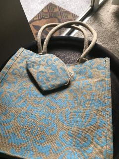 Canvas Tote / Small Attached Pouch