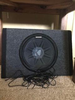 Kicker thin stack amp and sub in one. Wiring included