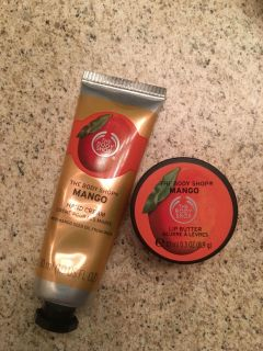 The Body Shop- lotion and lip butter