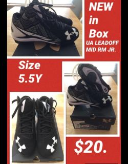 Baseball Cleats- Size 5.5Y- Under Armour NEW in Box!