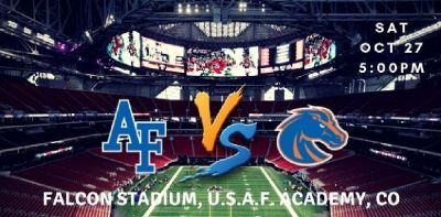 Air Force Falcons vs. Boise State Broncos Tickets, Falcon Stadium - U.S.A.F. Academy - CO, Sat 27 Oc