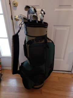 Golf bag with 10 irons