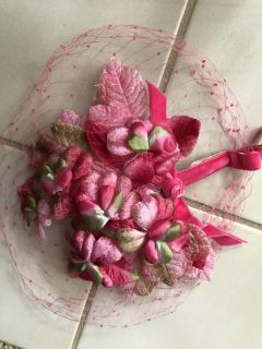 Vintage floral topper and netting
