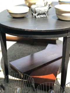 Wooden Black dining table