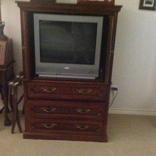 "Armoire and 27"" tv"