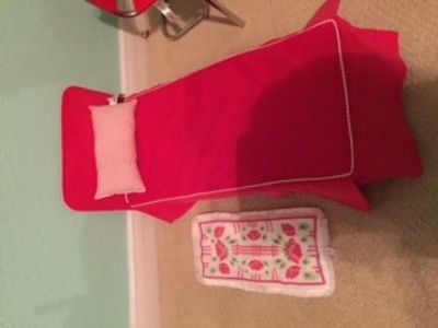 American Girl Molly bed and carpet