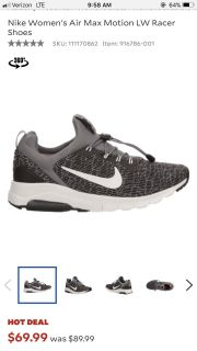 Women s Nike Air Max Motion LW Racer shoes | size 11 women s